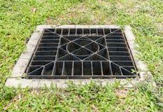 Metal drain cover Stock Photos
