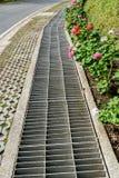 Metal drain cover Stock Image