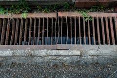 Metal drain cover Royalty Free Stock Photo