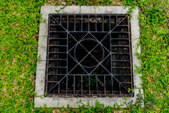 Metal drain cover Royalty Free Stock Photo