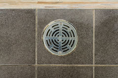 Metal drain hole Royalty Free Stock Images