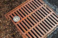 Metal Drain/Sewer Stock Photo