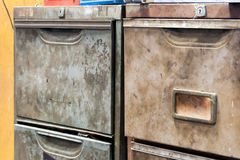 Metal drawer cabinet Royalty Free Stock Photo