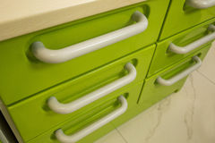 Metal drawers Stock Photo