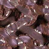 Metal dreams. Metal sculpted that reflects itself generating unusual patterns Stock Images