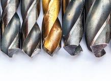 Metal drill bits Royalty Free Stock Photos