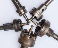Metal drill bits Royalty Free Stock Image