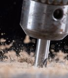 Metal drill chuck Stock Images