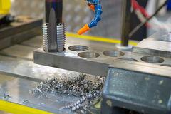 Metal drilling Royalty Free Stock Photography