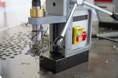 Metal drilling Royalty Free Stock Image
