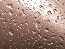 Metal and drops Stock Image