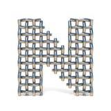 Metal drucianej siatki chrzcielnica LISTOWY N 3D Fotografia Royalty Free