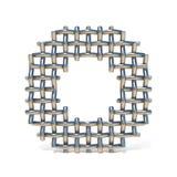 Metal drucianej siatki chrzcielnicy list O 3D Obraz Royalty Free