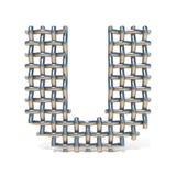 Metal drucianej siatki chrzcielnicy list U 3D Zdjęcia Stock