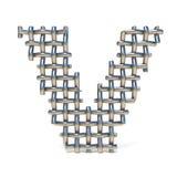 Metal drucianej siatki chrzcielnicy list V 3D Obrazy Stock