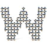 Metal drucianej siatki chrzcielnicy list W 3D Fotografia Stock