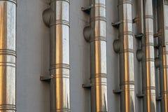 Metal drymby wentylacja Fotografia Stock