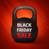 Metal dumbbell. Black Friday Sale Stock Photos