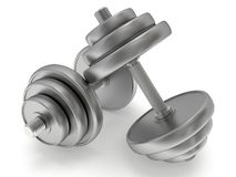Metal Dumbbells Royalty Free Stock Images