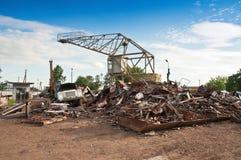 Metal dump Stock Photo