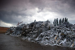 Metal dump ground Royalty Free Stock Images