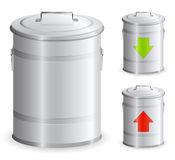 Metal dustbin Royalty Free Stock Image