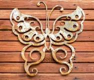 Metal e textura de madeira Imagens de Stock Royalty Free