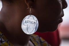 Metal earrings Royalty Free Stock Image