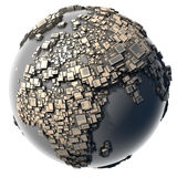 Metal Earth - the block structure Stock Photography