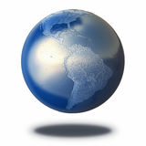 Metal Earth Planet Stock Image