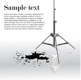 Metal easel with black ink. Splash. Stock Image