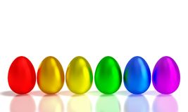Metal easter eggs Royalty Free Stock Photography