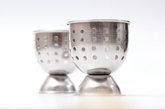 Metal egg cups Royalty Free Stock Photography