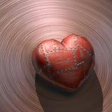 Metal el corazón Fotografía de archivo
