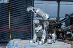 Metal el modelo de aluminio del ordenador programable del perro del robot Imagen de archivo libre de regalías