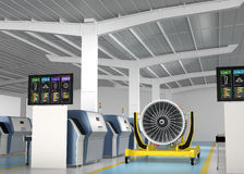 Metal el motor de la impresora 3D y del fan del jet en soporte del motor Imagen de archivo