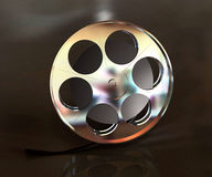 Metal el objeto del carrete de la película Fotos de archivo libres de regalías