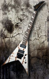 Metal electric guitar Stock Images