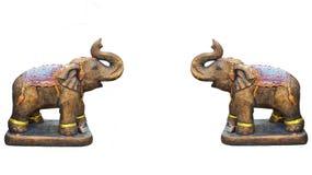 Metal elephant isolated on white. Background Stock Photography