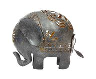 Metal Elephant Side View Stock Image