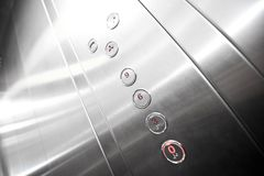 Metal elevator interior Royalty Free Stock Photo