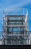 Metal elevator shaft Stock Photo