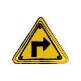 metal emblem notices warning Stock Photography