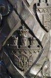 Metal embossed castle Royalty Free Stock Photo