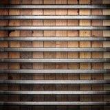 Metal en el fondo de madera Fotografía de archivo