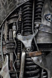 Metal engine gears background Stock Images