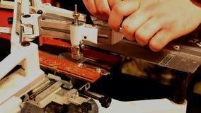 Metal engraving work Stock Images