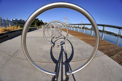 Equioment тренировки дуги металла в парке Стоковые Изображения