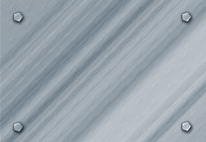 Metal escovado Fotografia de Stock