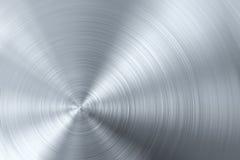 Metal escovado circular Foto de Stock Royalty Free